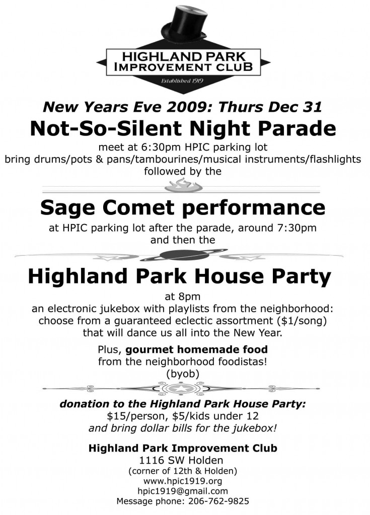 New Years Eve 2009 flyer