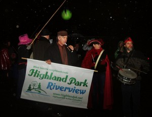 The first annual Highland Park/Riverview Not-So-Silent Night Parade begins