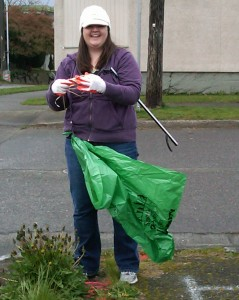 Meanwhile, Nicole sets off to clean up the neighborhood.