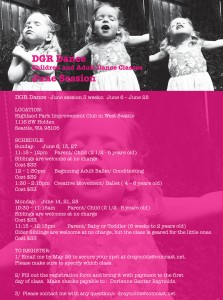 New classes from DGR Dance