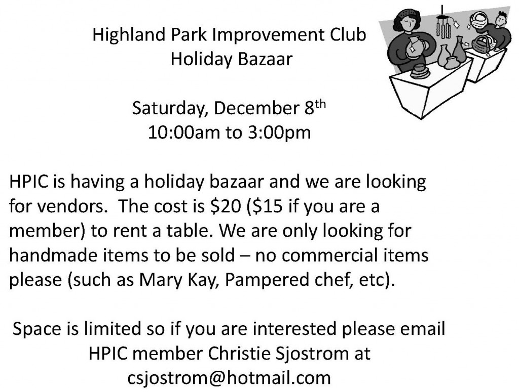 HPIC Bazaar Flyer 2012