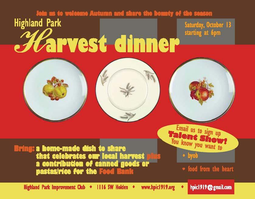 Harvest Dinner 2012