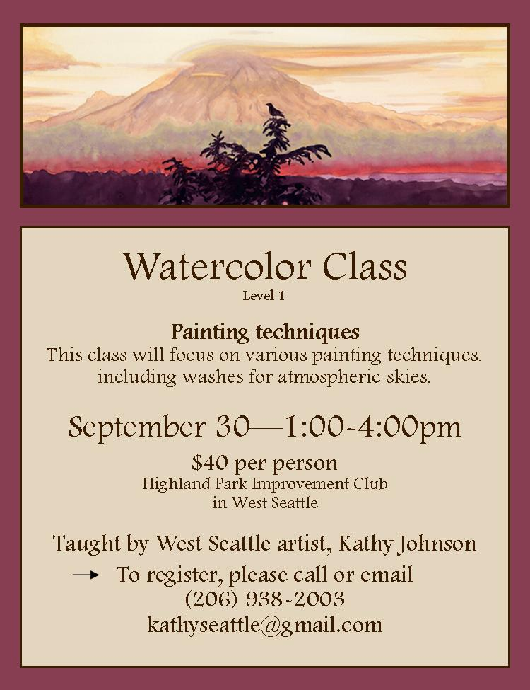Watercolor Class - September 30