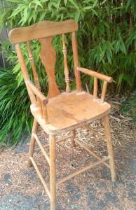 Antique doll high chair